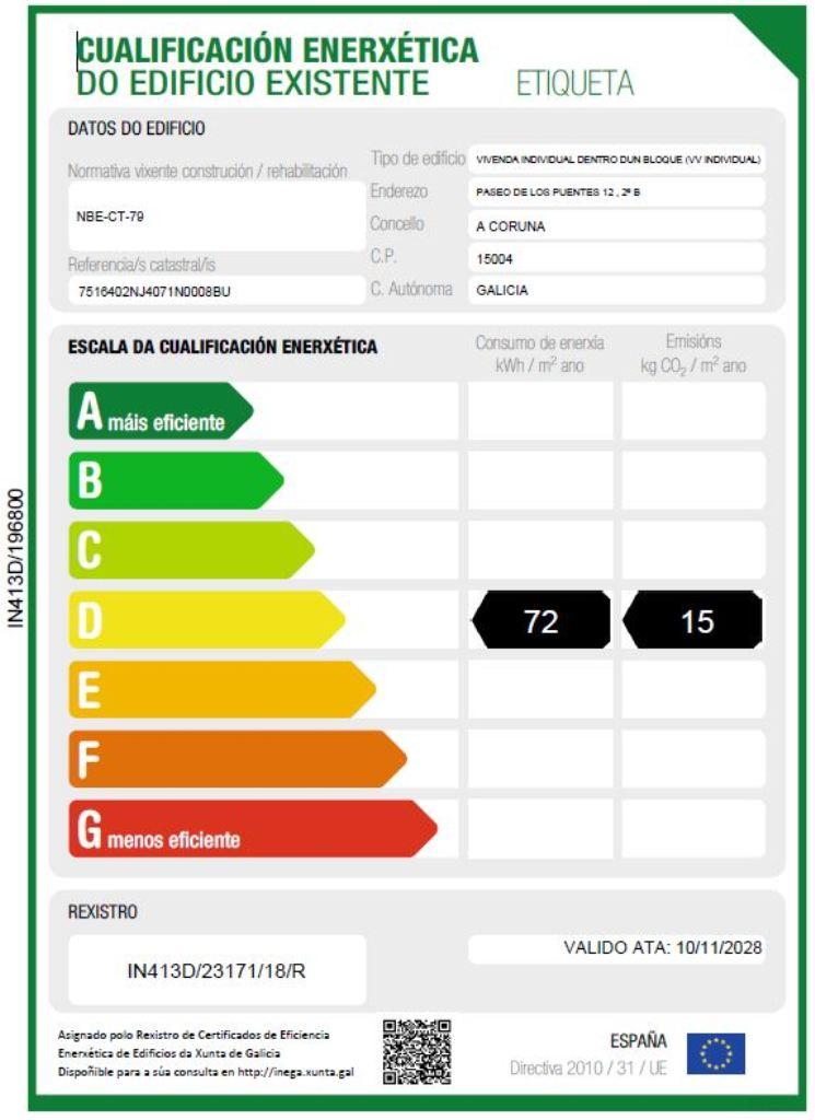 etiqueta certificado energetico